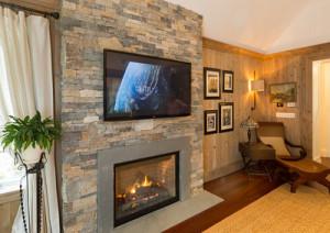Boston Blend Ledgestone Fireplace