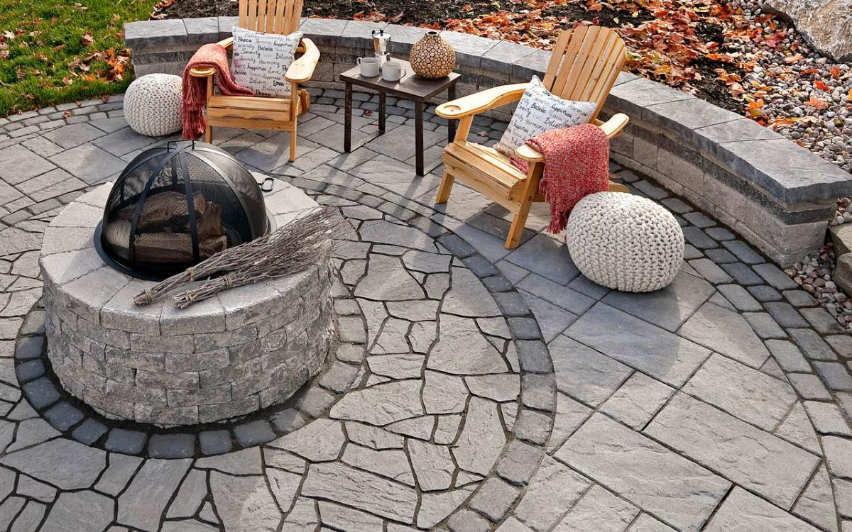 techo bloc valencia fire pit kit old station landscape u0026 masonry