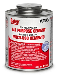 Universal PVC Cement Clear Pints