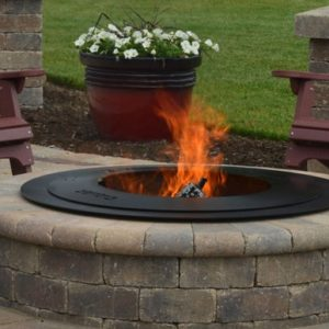 Zentro Smokeless Firepit Insert Old Station Landscape