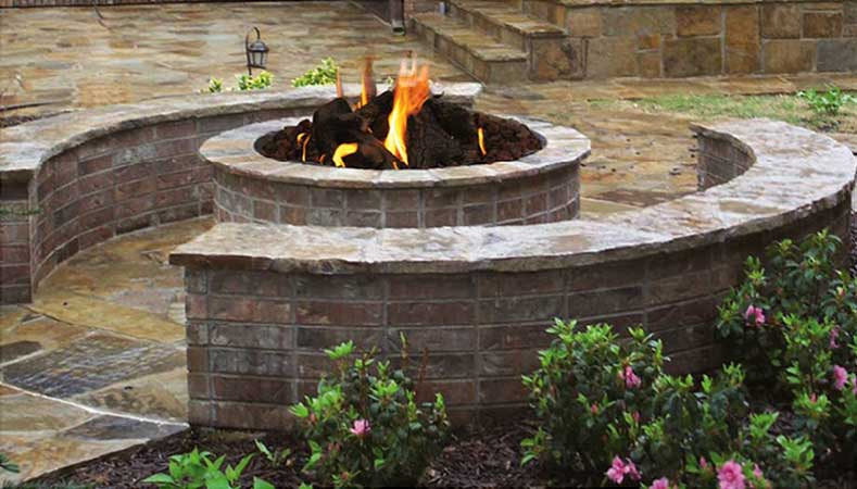 Stone Age Short Round Outdoor Fire Pit Kit Old Station Landscape