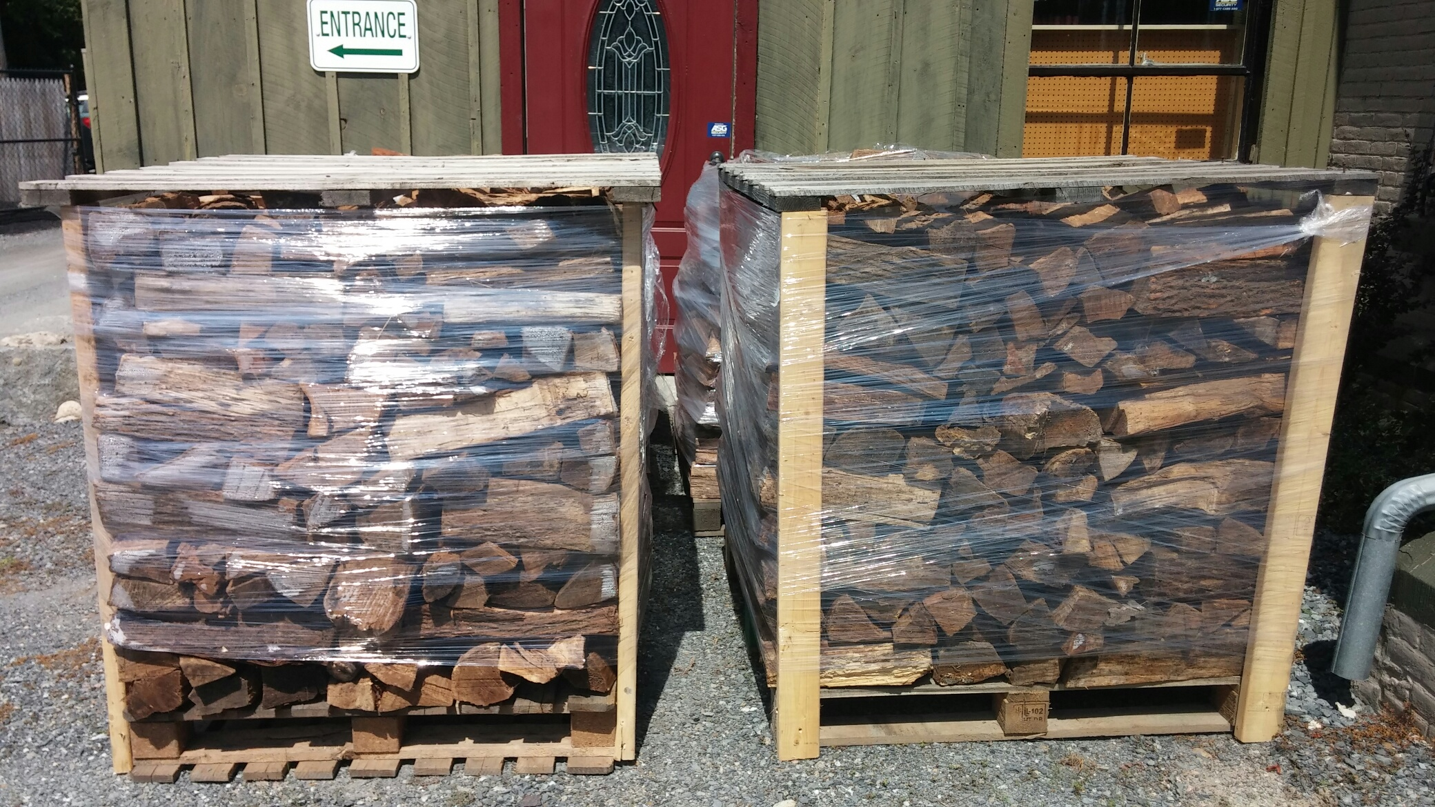 Seasoned firewood for sale at old station supply of