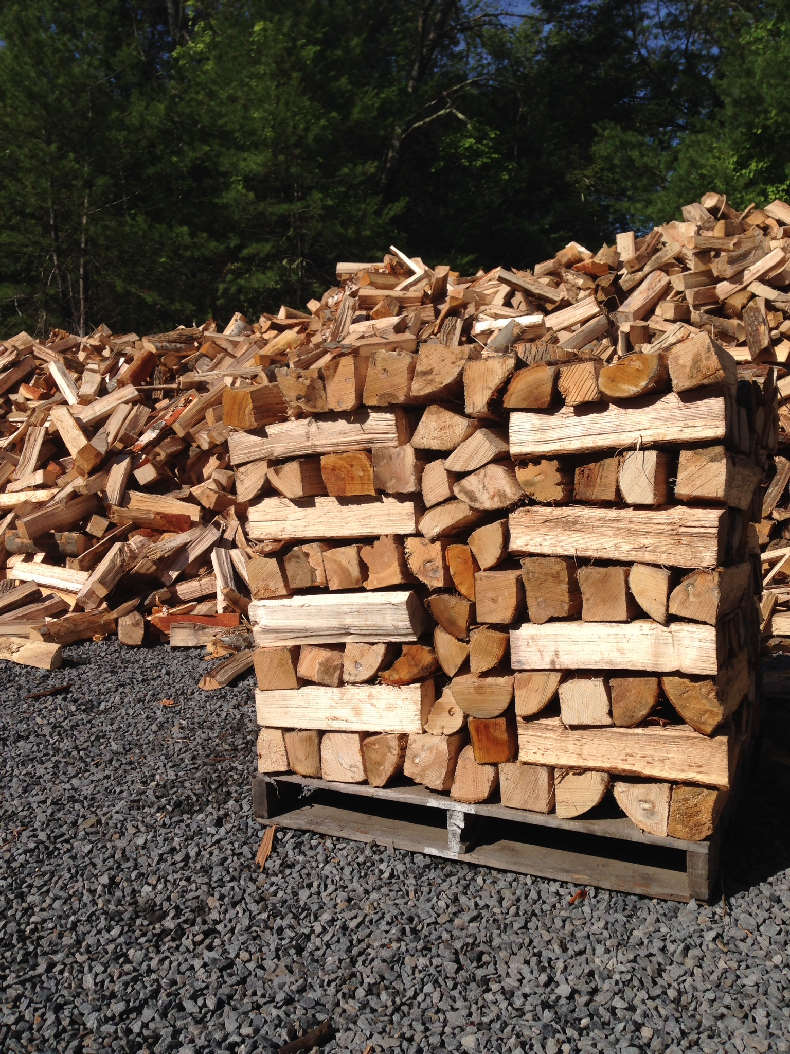Seasoned Firewood Sold by the Yard Bucket - Old Station ...