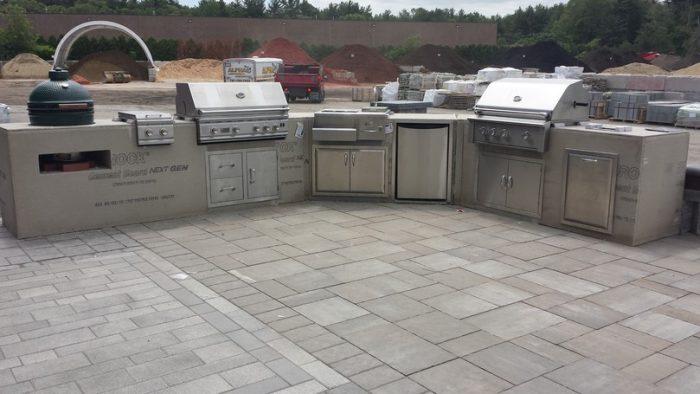 Outdoor Modular Kitchen Cabinets - Old Station Landscape ...
