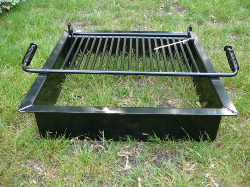 Steel fire pit inserts round square old station for Square fire ring