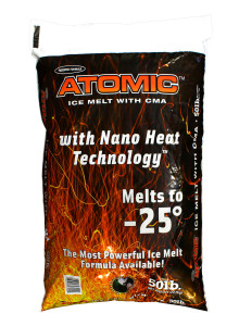 Atomic Ice Melt with Calcium Magnesium Acetate, Melts to -25°F, 50LB Bags