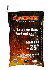 Atomic Ice Melt with Calcium Magnesium Acetate, Melts to -25°F, 50LB Bags
