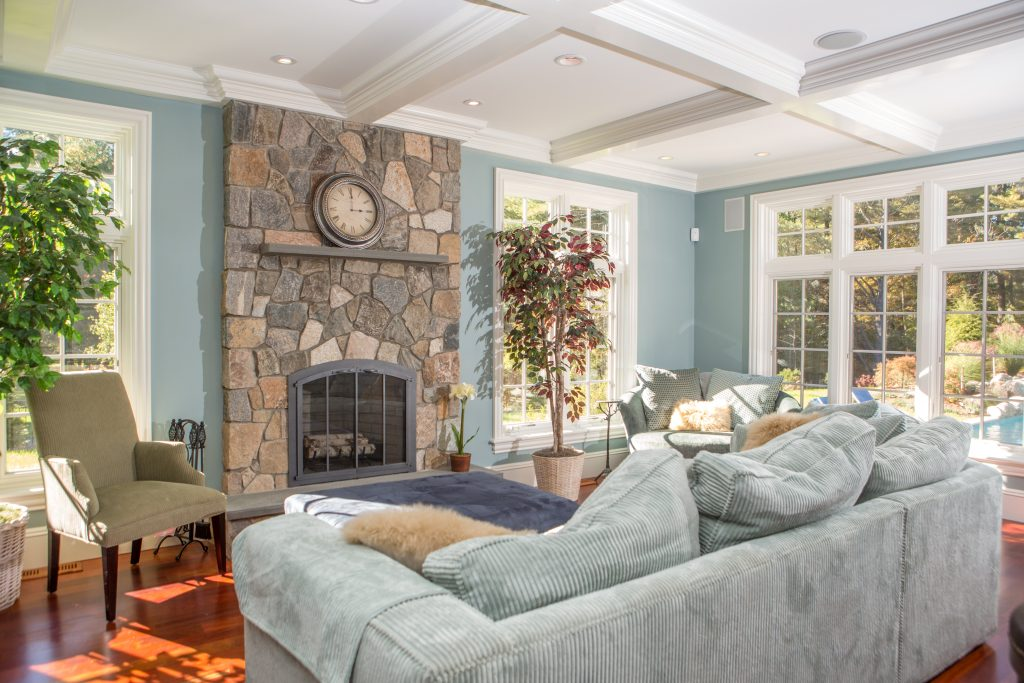 Interior Stone Veneer Projects - Old Station Landscape & Masonry ...