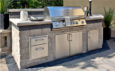 how to build a grill island out of wood