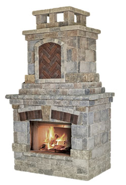 Unilock Fireplaces Old Station Landscape Masonry Supply Norton Ma